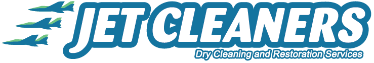 Jet Cleaners Dry Cleaning Service Logo
